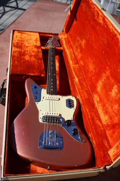 1962 Fender Jaguar Burgundy Mist, first year.