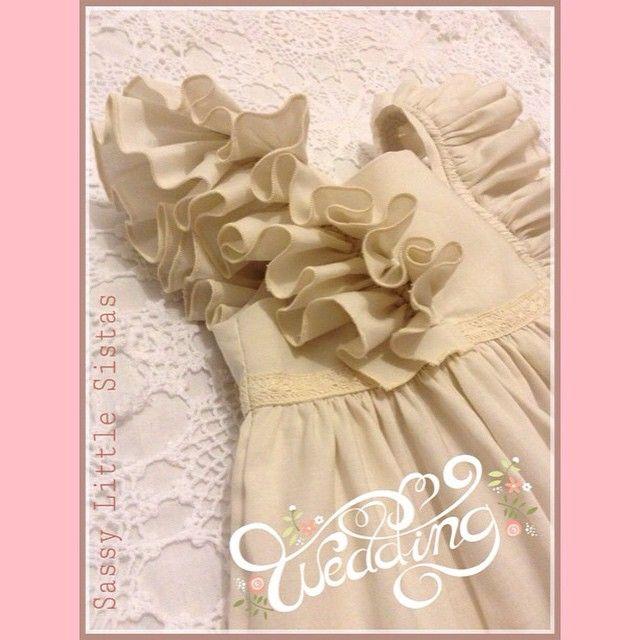 #ShareIG Custom Laila Dress for a little Flower Girl <3  #sassylittlesistas #sassy #Bobkin #Laila #handmade #fashion #dress #baby #wedding #flowergirl #love
