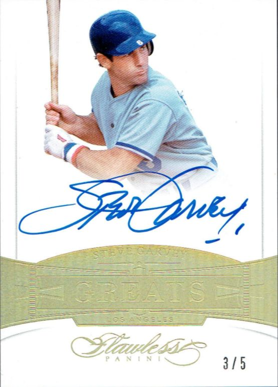 2017 Panini Flawless - All the Dodgers Cards -- Steve GArvey