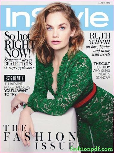 Ruth Wilson – Instyle UK March 2016