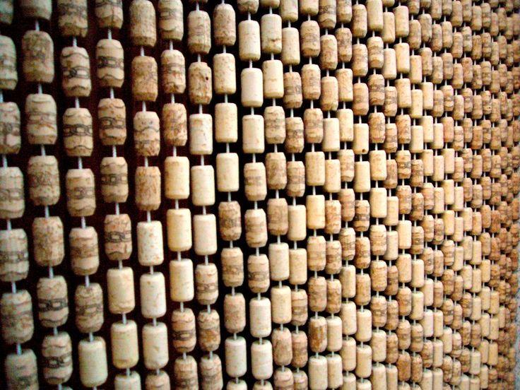 This is why I've been saving my corks. :)  Tenda di tappi - Cork curtain - Berchidda - Sardinia - Italy
