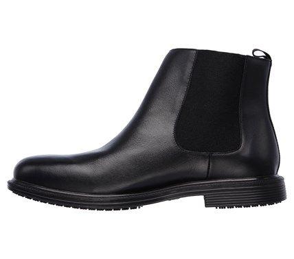 Skechers Work Men's Gretna Chambliss Memory Foam Chelsea Boots (Black Leather) - 11.5 M