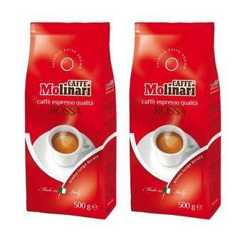 """Caffe' Molinari เมล็ดกาแฟ คั่วระดับกลาง จาก อิตาลี่ รส """"ROSSA blend"""" (ถุง 500g x2 ถุง)   ราคา: ฿1,180.00   Brand: Caffe Molinari   See info: http://www.home-appliances-2017.com/product/3220/caffe-molinari-เมล็ดกาแฟ-คั่วระดับกลาง-จาก-อิตาลี่-รส-rossa-blend-ถุง-500g-x2-ถุง"""