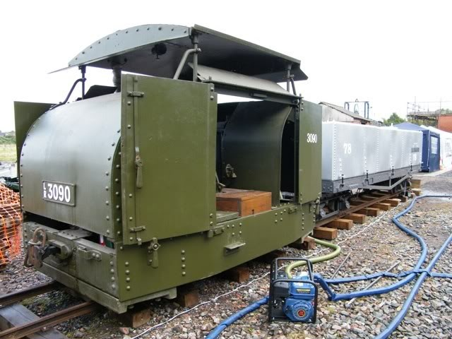 Preserved UK War Department 'tin turtle' Simplex Armored Trench Locomotive