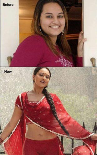 i'd initially glance thru to see the time taken for the transformation. but that is not the factor that should drive you. Actor Sonakshi Sinha true inspiration... if she can, why cant you???