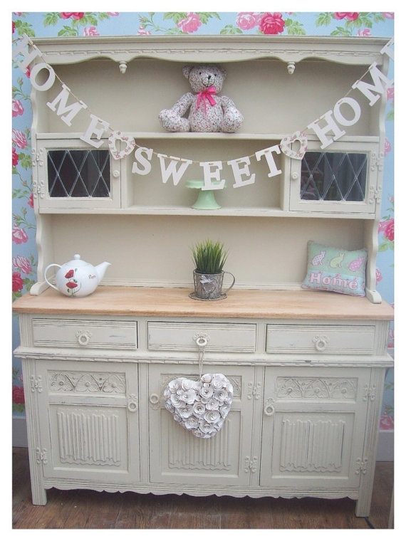 shabby chic oak welsh dresser i love this would love one in my home painted furniture. Black Bedroom Furniture Sets. Home Design Ideas