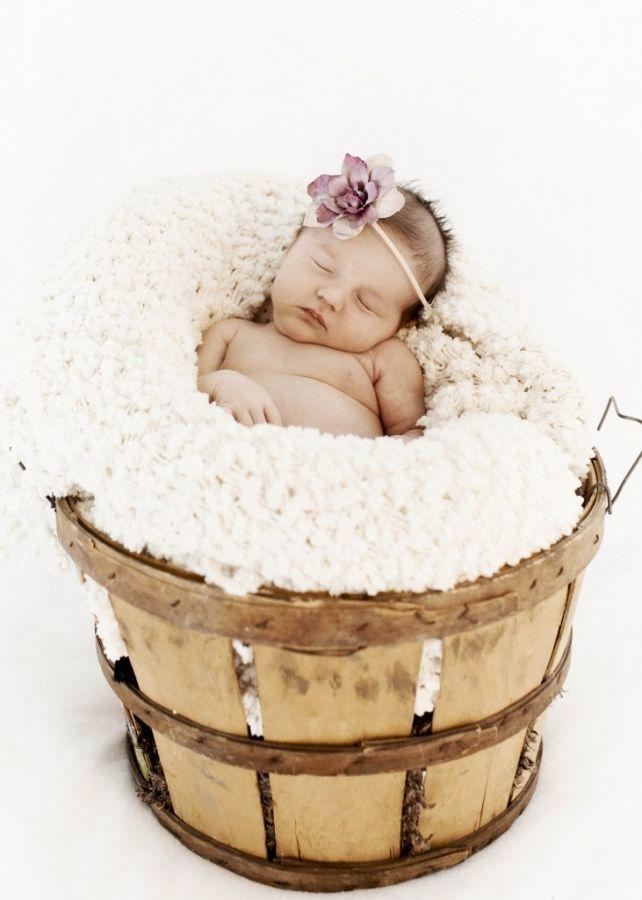 Newborn picture- a bushel of love? :)