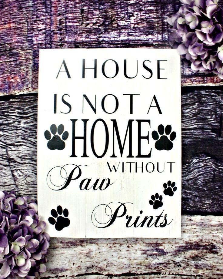 A House Is Not A Home Without Paw Prints Wooden Dog Sign Rustic