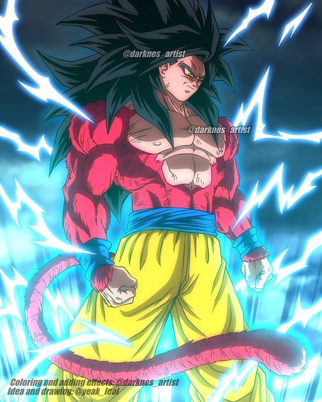 Darkness Artist On Instagram Goku Ssj 4 Coloring And Adding Effects Dragon Ball Super Manga Anime Dragon Ball Super Anime Dragon Ball Goku