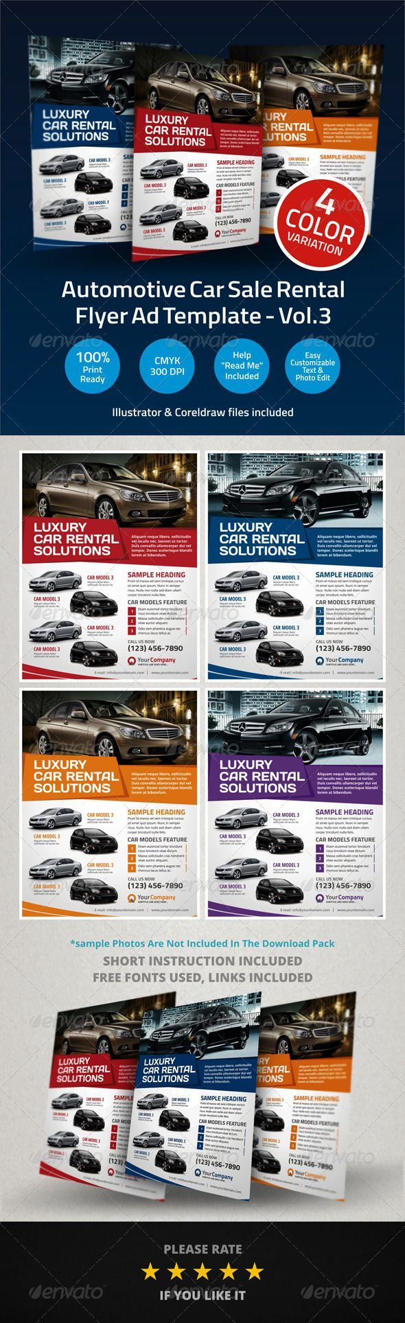 12 best images about My Car Flyers – Car Ad Template