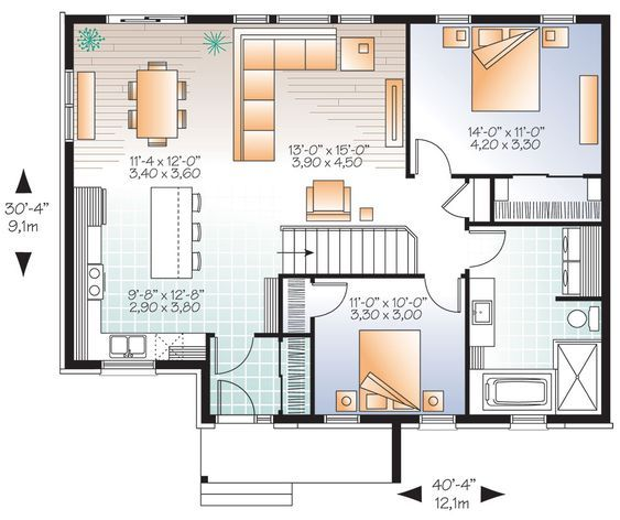 Bungalow Style House Plan 9531 Erindale 3 Bungalow Floor Plans Open Concept House Plans House Plans