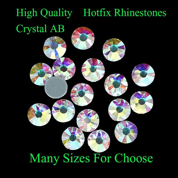 Crystal AB Hotfix Rhinestones SS4-SS40 With Glue Backing Iron On Strass Diamonds DIY Crafts Clothes Shoes Dresses Supplies