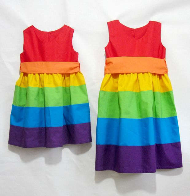 Rainbow party frocks by Kitschy Coo by kitschycoo, via Flickr