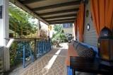 What a fun outdoor bar area!