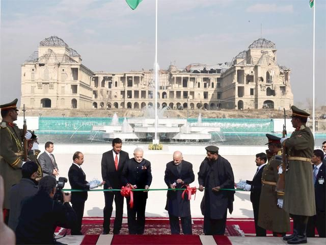 Slideshow : PM Modi inaugurates new Afghan parliament - Prime Minister Narendra Modi inaugurates new Afghan parliament built by India in Kabul - The Economic Times