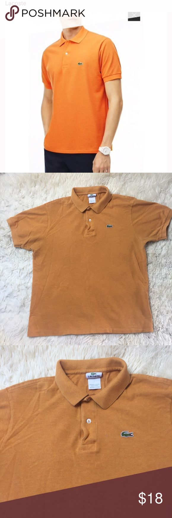 LACOSTE POLO SHIRT 6 Pre owned, orange, LACOSTE polo short sleeve shirt.  100%cotton.  Size 6. Good condition, pet/smoke free home Lacoste Shirts Polos