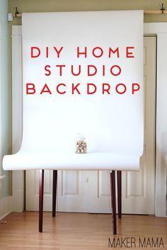 Maker Mama Craft Blog: DIY Home Studio Backdrop