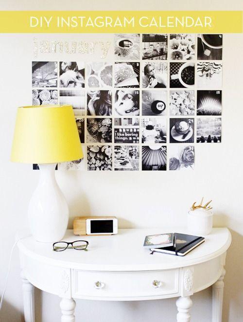 Make It: Black & White Instagram Wall Calendar