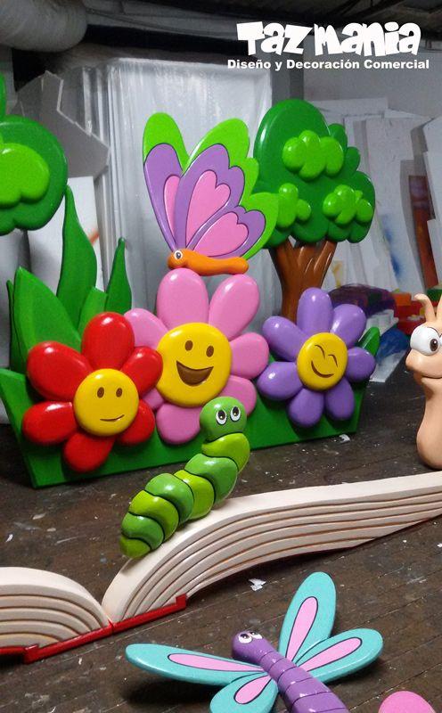 Figuras y elementos decorativos decoración escenografía graduacion Jardín inf…