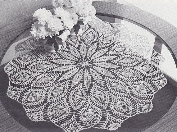 Tablecloth Crochet Patterns - Oval, Round, Square, Filet ...