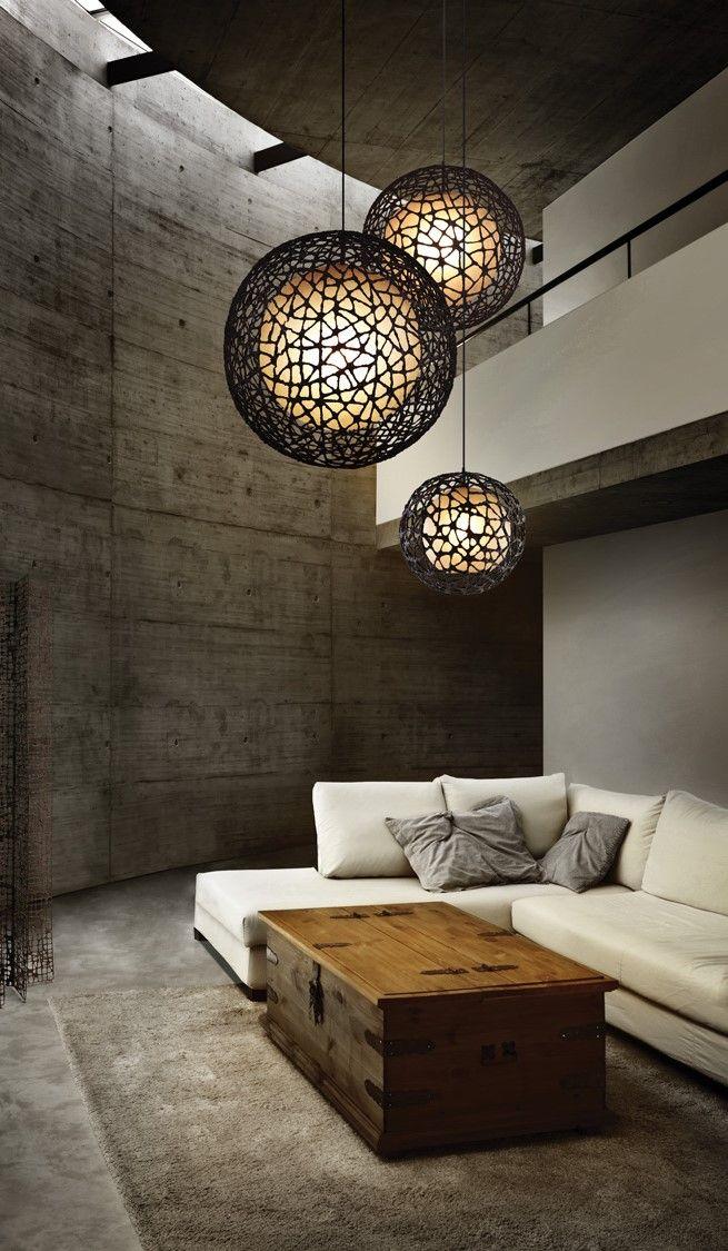 C U C Me Round Pendant By Kenneth Cobonpue Lpcc 1515 Rustic Living Room Design Living Room Lighting Rustic Living Room