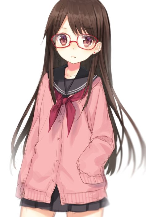 17 best images about anime girl brown hair and glasses on
