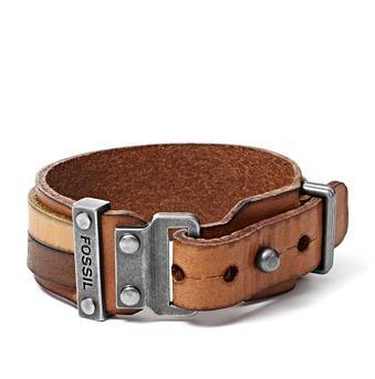 FOSSIL® Sieraden Armbanden:Heren Leren Armband - Multi JA5925