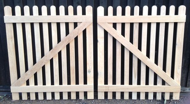 Oak picket gates, made to order from reclaimed oak
