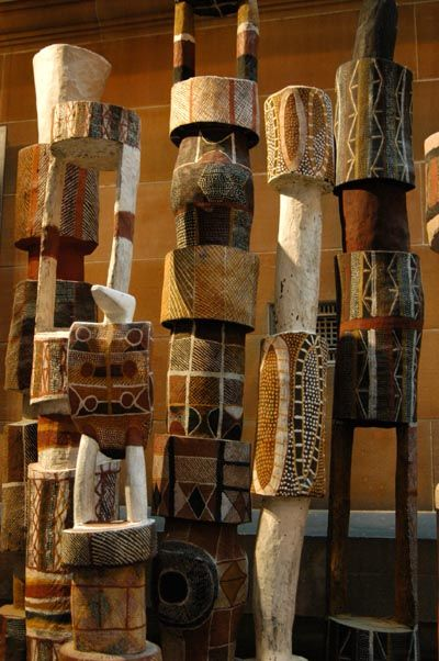 ArtPropelled | Pukumani Poles, Australian Museum                                                                                                                                                                                 More