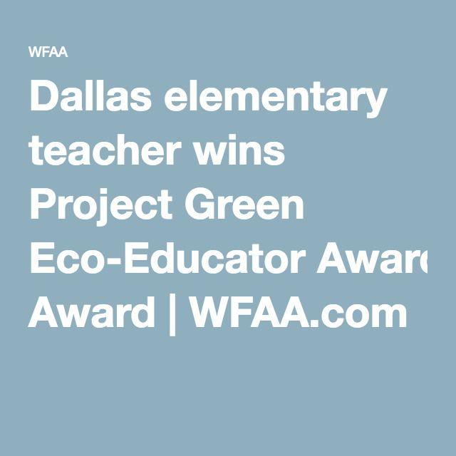 UF 2016 Graduate + Dallas elementary teacher wins Green Eco-Educator Award for her Capstone Project