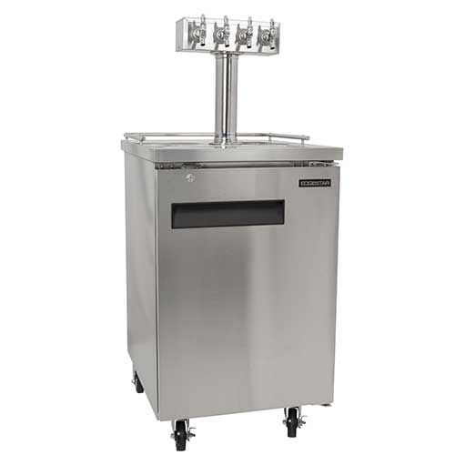 EdgeStar Quadruple Faucet Commercial Direct Draw - Stainless Steel with Dispense Components