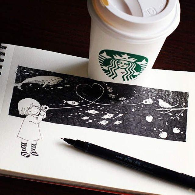 スターバックスとコラボしたイラストがほっと可愛い | DDN JAPAN