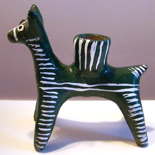 Ceramic Horse Candle Holder from San Luis Potosí, Mexico, $15 (SOLD)