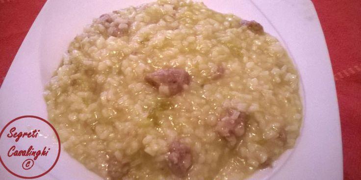 riso verza salsiccia,risotto con verza e salsiccia,primi piatti,ricette con il riso,ricette con salsiccia,ricette primi piatti invernali,riso e verza,