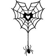 Design ~ Spider & Web Heart
