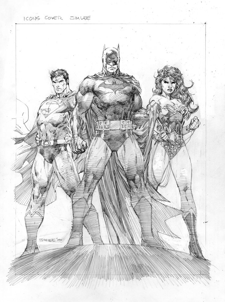 Art Batman Superman and Wonder Woman