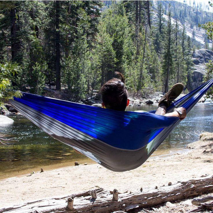 IPRee® Upgraded Type 270x140CM 210T Nylon Double Hammock Portable Swing Bed Max Load 250kg Sale - Banggood.com