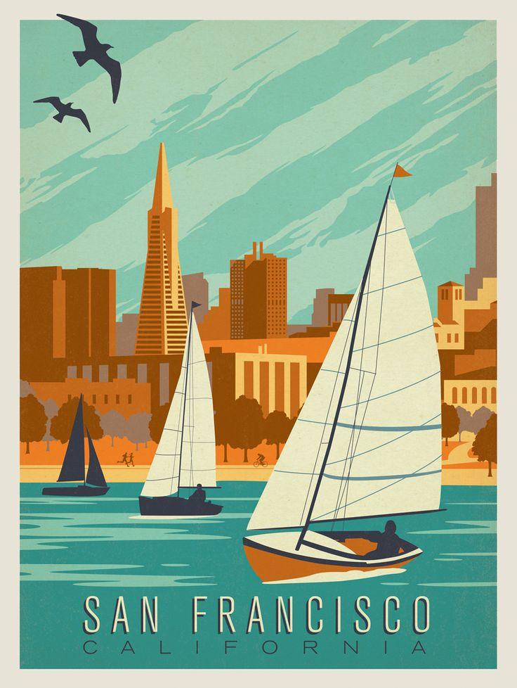 Постер ретро путешествия