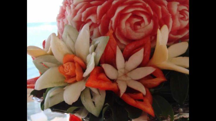 Fruit Carving  & Thai food @ wedding reception