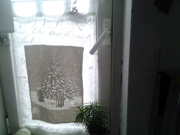 My winter kitchen curtains