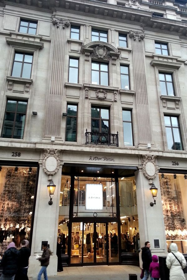 """& Other Stories - """"& Other Storiesis the perfect go-to for affordable clothing and accessories. They have great sweaters and nicecosmetics, and you can always grab a cool pair of sneakers too.""""Location:256-258 Regent St., London W1B 3AF"""