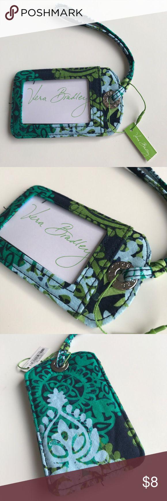 NWT Vera Bradley Luggage Tag 💚 NWT Vera Bradley Luggage Tag in Caribbean Sea. Vera Bradley Bags Travel Bags
