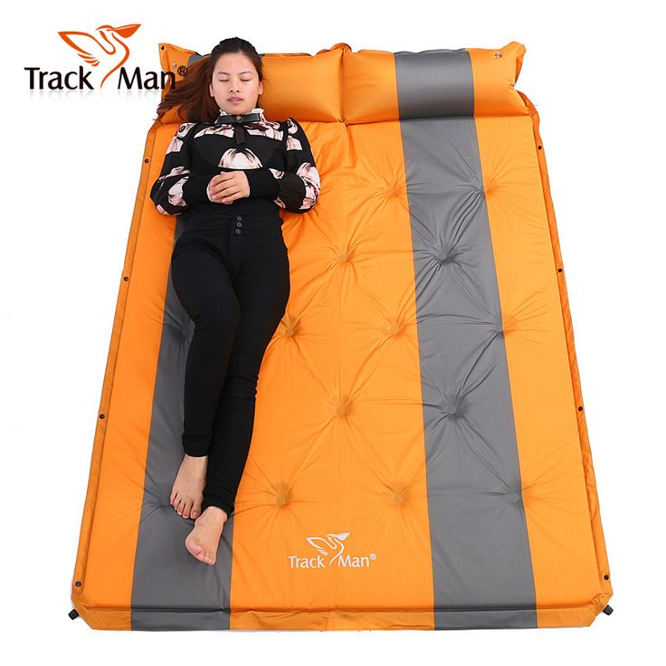 2016 192*132cm on sale brand new Trackman 2 persons PVC automatic inflatable mattress cushion outdoor camping mat moisture pad