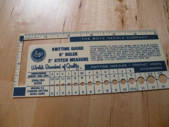 Knitting Needle Sizes Chart Uk : Best vintage knitting gauges images