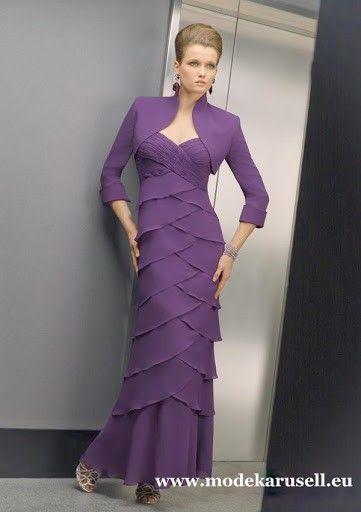 f49b81c309c2e1 Diva Kleid Abendkleid 2019 Lang mit Bolero #abendkleider #elegant #festlich  #event #hochzeit #wedding #dressen #fashion #mode #damenmode