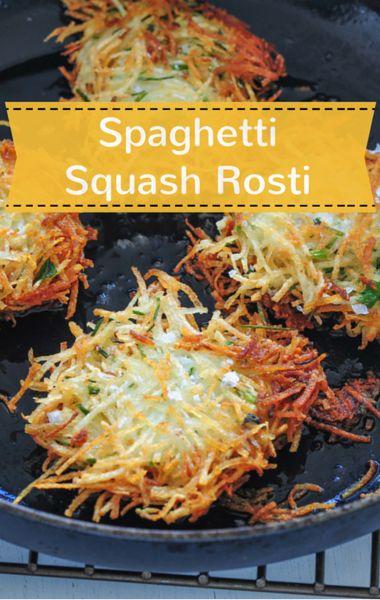 The Chew Meatless Meal Ideas Spaghetti Squash Rosti