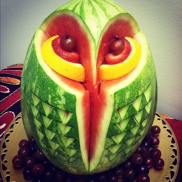 Arte em melancias pesquisa google art corujas owl