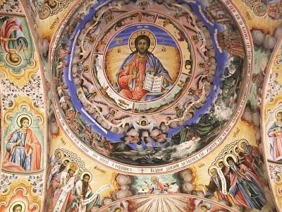 Rila Monastery-Bulgaria-Fresco: Rila Monasterybulgariafresco