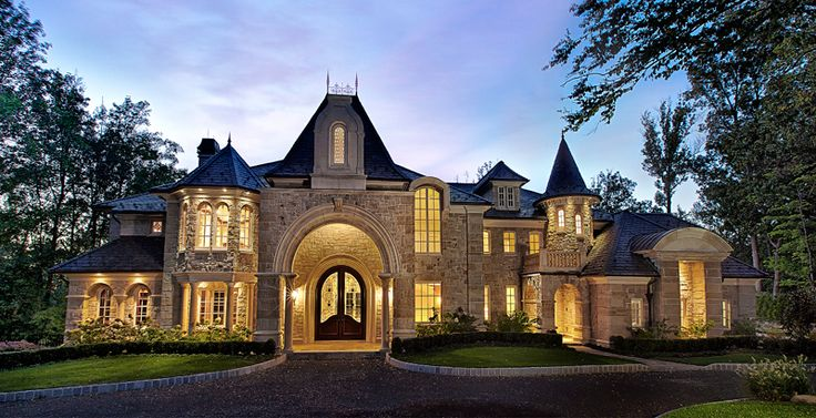 Luxury French Chateau House Plans | Luxury Beautiful House plan designs, blueprints