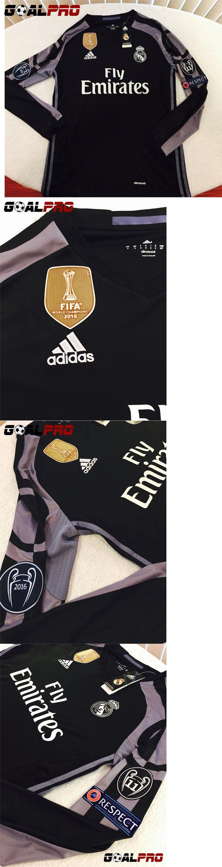 Men 123490: Real Madrid 3Rd Away Long Sleeve Jersey Ronaldo Bale Champion League 2016-17 -> BUY IT NOW ONLY: $48 on eBay!